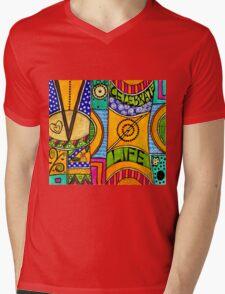 Living a VIBRANT Life Mens V-Neck T-Shirt