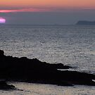 Sunset over St Brides Bay by Paul  Green
