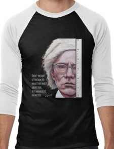 Advice from Warhol Men's Baseball ¾ T-Shirt
