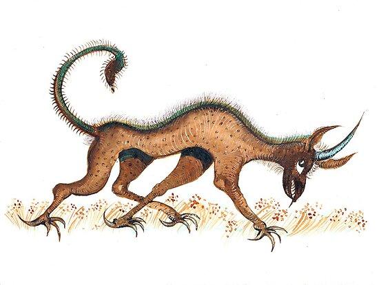 Heraldic Fantasy Creature by ivDAnu