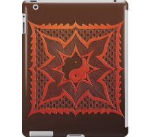 yin yang woodcut mandala (dáorashi) iPad Case/Skin