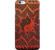 yin yang woodcut mandala (dáorashi) iPhone Case/Skin