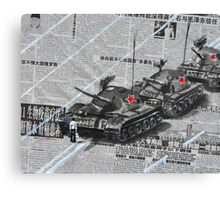 Tank Man of Tiananmen Canvas Print