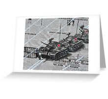 Tank Man of Tiananmen Greeting Card