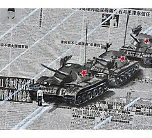 Tank Man of Tiananmen Photographic Print