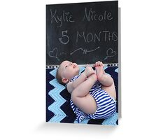 Five Months Old Greeting Card