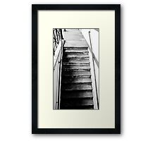 Stairs Tell a Tale Framed Print