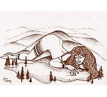 Mountain Woman Photographic Print