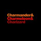 Charmander, Charmeleon and Charizard by hardsign