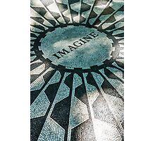 John Lennon Memorial, Imagine at Central Park, New York Photographic Print