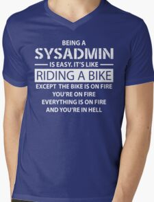 Being a SYSADMIN Mens V-Neck T-Shirt