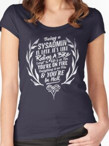 Being a SYSADMIN v2 Women's Fitted Scoop T-Shirt