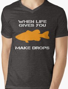 When Life Gives You Bass Mens V-Neck T-Shirt