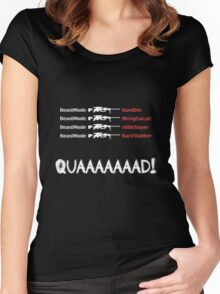 Quad Feed (Intervention) Women's Fitted Scoop T-Shirt