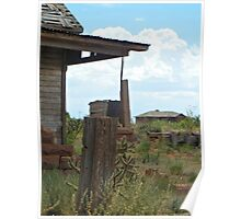 Neighborly View--Ruined Ranch House, Cuervo, New Mexico Poster