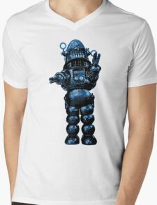 Robby The Robot Mens V-Neck T-Shirt