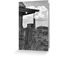 Neighborly View-- Ruined Ranch House, Cuervo, New Mexico Greeting Card
