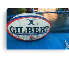 Gilbert Rugby Ball  Canvas Print