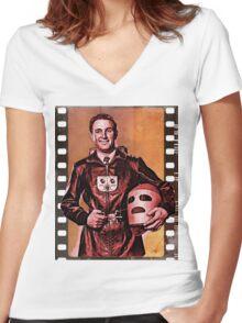 King of the Rocketmen Women's Fitted V-Neck T-Shirt