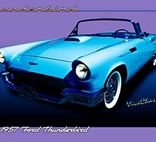 1957 Thunderbird Poster by ChasSinklier