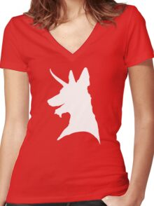 Elusive, Mythical Malicorn! Women's Fitted V-Neck T-Shirt