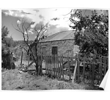 Good Fences -- Ruined House, Cuervo, New Mexico Poster