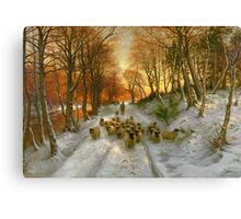 Glowed with Tints of Evening Hours Canvas Print