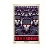FIGHTING THE MUTANT THREAT!  Art Print