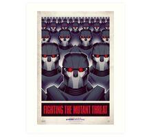 FIGHTING THE MUTANT THREAT!  Art Print