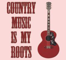 Country Music Is My Roots Kids Tee