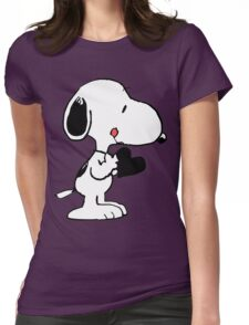 Snoopy's heart  Womens Fitted T-Shirt