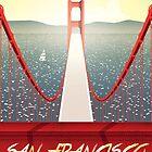 San Francisco Golden Gate bridge poster by Lautstarke