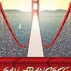 San Francisco Golden Gate bridge poster by Lautstarke