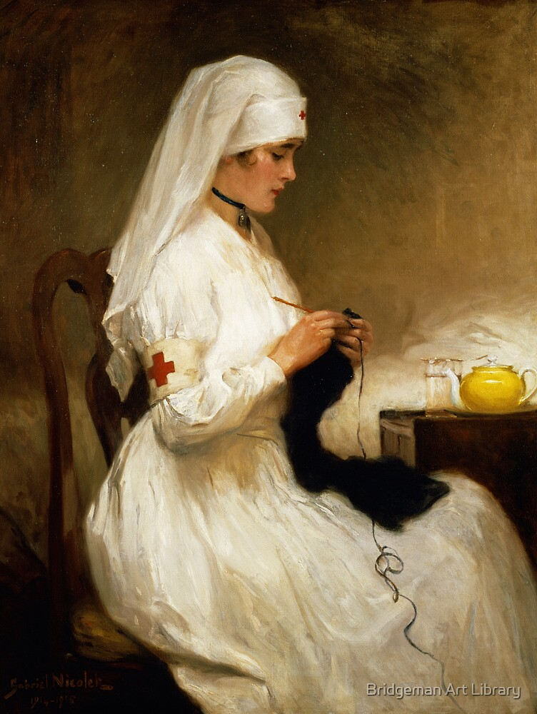 Portrait of a Nurse from the Red Cross by Bridgeman Art Library