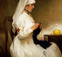 Portrait of a Nurse from the Red Cross by Bridgeman Art Library