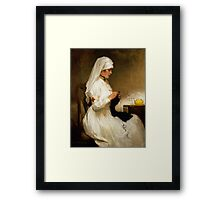 Portrait of a Nurse from the Red Cross Framed Print
