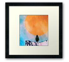 Lonely Penguin Framed Print