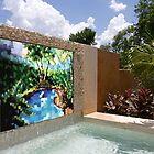 Backyard Waterfall Mosaic - Commissionable by Laurianne  Macdonald