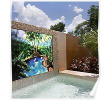 Backyard Waterfall Mosaic - Commissionable Poster