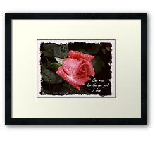 One Rose Framed Print