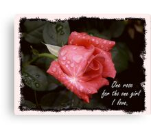 One Rose Canvas Print