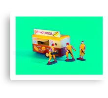 Fast Food Turf War Canvas Print