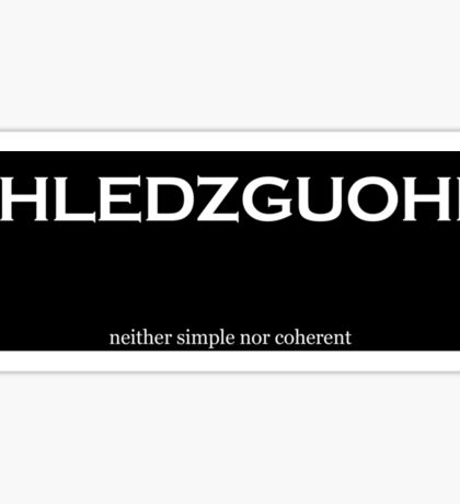 Shledzguohn Sticker