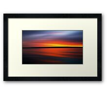 Sunset - Abstract Framed Print