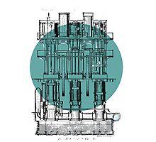 Machinery diagram Photographic Print