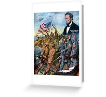 Liberty And Freedom Shall Not Perish -- True Sons Of Freedom Greeting Card