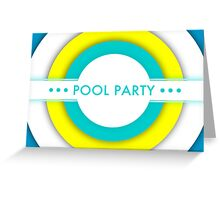 pool party invitations Greeting Card