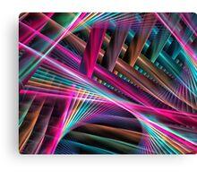 Laser Beams Canvas Print