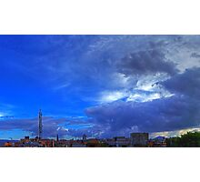 ©HCS In The Blue Cloudscape HDR Photographic Print