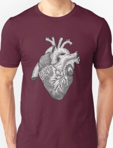 Anatomical Heart Ink Illustration T-Shirt